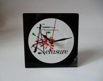 ERASURE Record Clock Original 1980s Pop Vinyl Record Desk Clock Single Sometimes