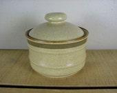 Vintage 1970's Mikasa Pottery Country Side Sugar Bowl Japan J7801