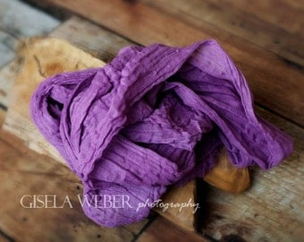 PURPLE Cheesecloth, Newborn Cheesecloth, Newborn Photo Prop, Baby Wrap, Purple Newborn Wrap, Purple Baby Wrap, Cheesecloth Wrap