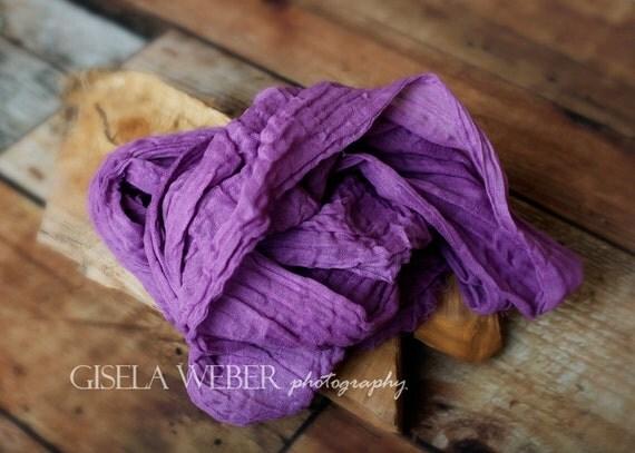 PURPLE Cheesecloth, Newborn Cheesecloth, Newborn Photo Prop, Baby Wrap, Purple Newborn Wrap, Purple Baby Wrap, Cheesecloth Wrap
