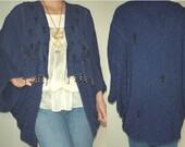 Handmade Vintage Fabric Shrug/Tunic Jacket  Batwing Drapy fits S M  L  XL