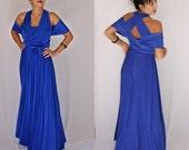 Convertible Bridesmaid Dress Infinity Dress Bridesmaids Royal Blue Dresses Wrap Formal Convertible Long Short Dresses 50 Colors Choose From