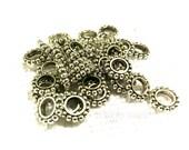 Dreadlocks, dread beads, charms, dreadlock, hair wrap 6  Silver tibetan dread beads in silver