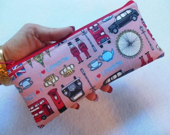 London Blocks Pencil Case/cosmetic pouch