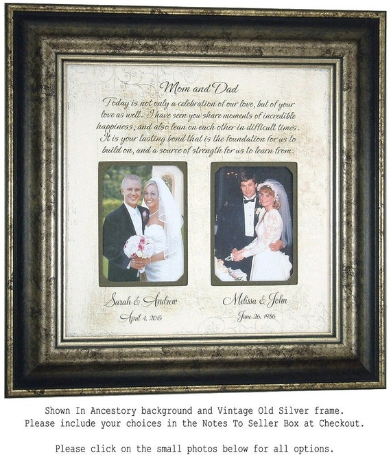 Personalized Wedding Gift for Parents, Today Is A Celebration, Parents ...