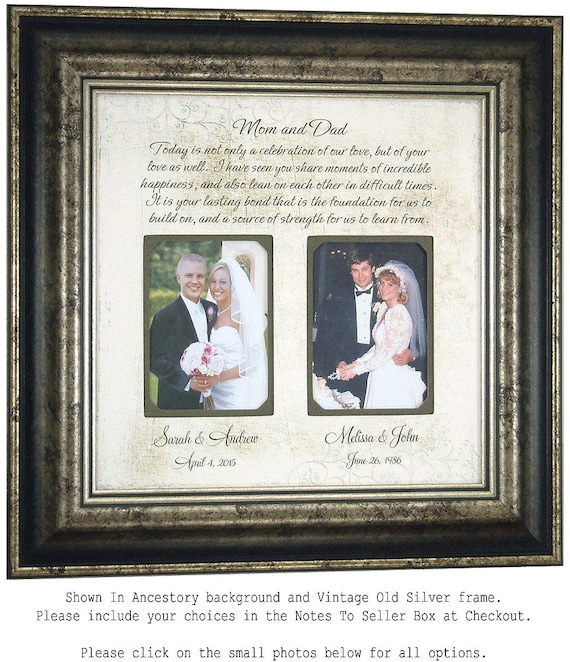 Special Wedding Gifts From Parents : Personalized Wedding Gift for Parents, Today Is A Celebration, Parents ...