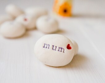 Gift For 'mum' Pebble Mother's Day Gift Mothering Sunday