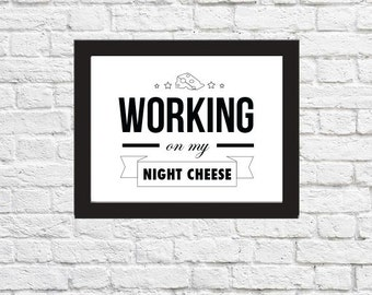 LIZ LEMON Night Cheese Quotes Poster