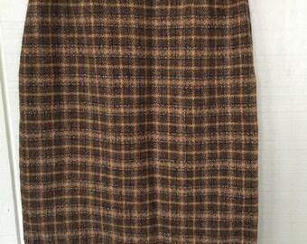 Vintage Pendleton Skirt/ Vintage Highwaisted Pencil Skirt