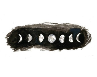 "Phases of the Moon Print, 8""x10"", unframed."