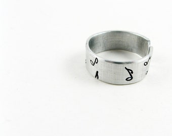 Music Ring (Adjustable Ring with Music Notes)