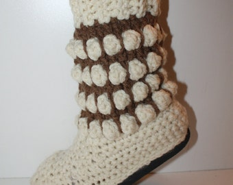 Crochet Boots Pattern------ BOHO BOBBLE BOOTS-----Street Boots or Slippers-----New for 2015