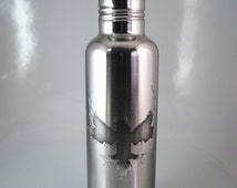 Phoenix 24 oz Etched Stainless Steel Water Bottle