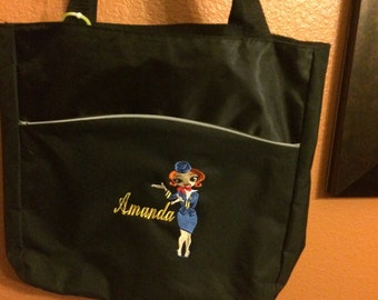 Personalized Flight Attendant Tote - Customized and Personalization included