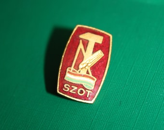 Vintage Rare Pin - Hungary communist membership pin - Hungarian Central Council Trade Unions SZOT