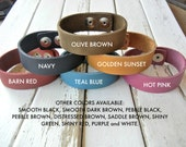 Bulk 100 PACK - SPECIAL ORDER - 3/4 Inch Wide Genuine  Leather Cuff Bracelet - You Choose Color Mix - Cuff Wristband - Cuff Blank
