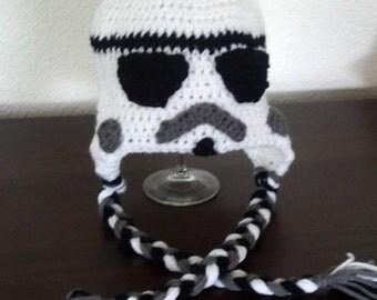 Star Wars Stormtrooper hat, crocheted Star Wars