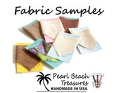 Fabric sample pack of five swatches neck tie color samples