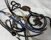 Western  Bolo Ties Collection Ready to Wear Lot of 7
