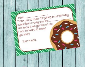 Krispy Kreme or Donut Party THANK YOU Card