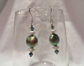 Green Spell Dangles, dangles, earrings, green