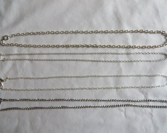 "18"" Silver Chains"
