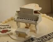 Grand Piano Cake Topper Tutorial- PDF downloadable file