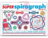 The Original Spirograph Super Kit Drawing Set - 72 Pieces - 50th Anniversary Classic Toy - Die Cast Wheel Inside - Childrens Crafts (107243)