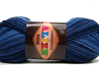 Alize Knitting Yarn Alize superlana fine missisippi shades of blue crochet yarn buy yarn online wool shop knitting wool for scarves