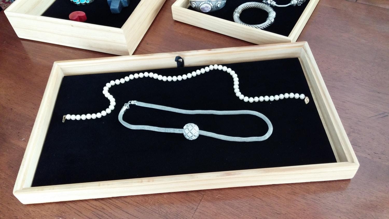 Velvet tray liner for jewelry trays drawer by for Velvet jewelry organizer trays