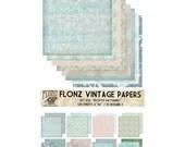 "Scrapbooking Craft Paper Pack (24pcs 6""x6"") FLONZ 030 Frosted Winter Patterns"