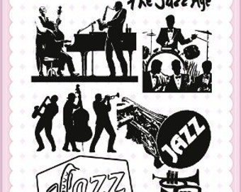 """Play Jazz // Clear stamps pack (4""""x7"""") FLONZ"""