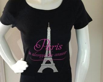 Stunning Eiffel tower Paris embroidered Sweatshirt