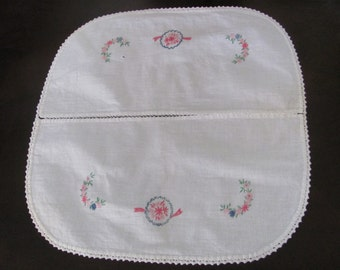 "Table Linens Handmade Embroidered Table Runner Dresser Scarf Chair Doily - 16"" x 16"""