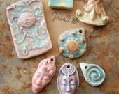 SUPER SALE / Ceramic Pendant Set (12-29-186)