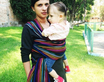 Special price for a limited time Mexican Are rainbow stripes Wrap  Baby carrier available in 5,5 yards