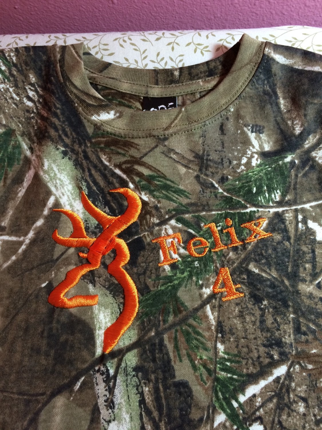 Realtree Camo Tshirt With Orange