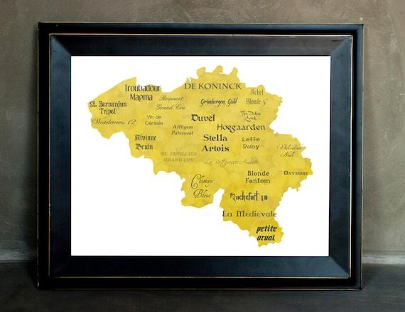 """Best of Belgian Beer Word Art, 11""""x14"""" on Fine Art Paper"""