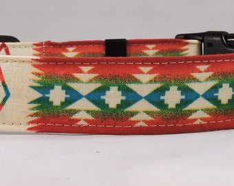 Dog Collar, Martingale Collar, Cat Collar - All Sizes - Tucson Aztec - Cream