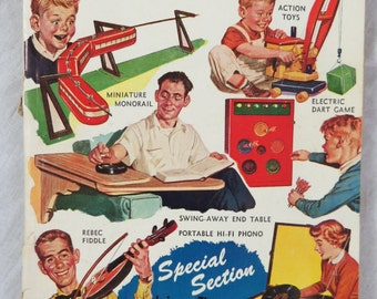 Science and Mechanics Magazine December 1955 Toys and Projects Atomic Plane Box A