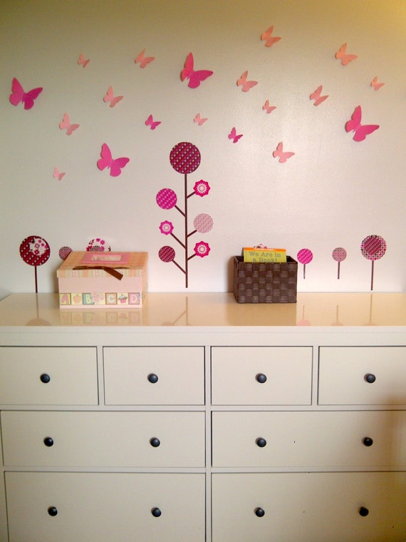 20 3d Wall Butterflies, 3d Wall Art, Butterfly Wall Art, Paper Butterfly for Nursery, Birthday, Wedding, Baby Shower, DIY Mobile