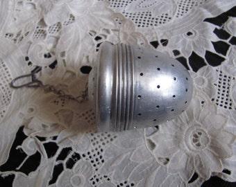 Vintage Aluminum Loose Tea Strainer Infuser