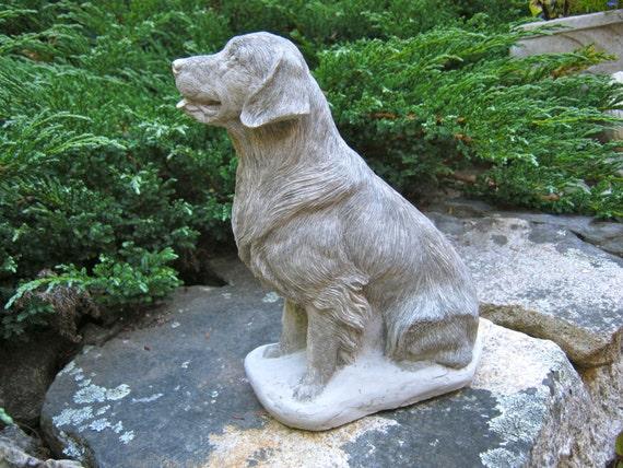 Charmant Cement Golden Retriever Garden Statue Garden Ftempo