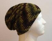 Men's Slouchy Beanie Crochet Hat for Men Unisex Beanie Summer Accessories Camouflage Green Brown Summer Beanie