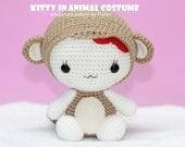 INSTANT DOWNLOAD PDF Pattern: Kitty in Monkey Costume / Chinese Zodiac  Monkey