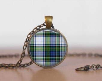 CAMPBELL TARTAN Pendant Necklace / Scottish Tartan Jewelry / Ancestral Jewellery / CAMPBELL Clan /  Family Jewelry / Personalized Gift