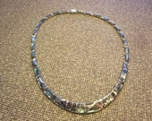 Sterling and Abalone Choker Collar Necklace