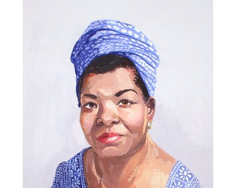 "8x10"" print - Maya Angelou"