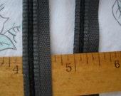 "Flat x 3 Piping Trim Lip Cord 1/2"" bias tape Charcoal black gray 1/4"" Lip Edging crazy Quilt Pillows Apron tape yardage embellish grey"
