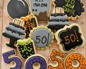 50th Birthday Cookies (1 Dozen)
